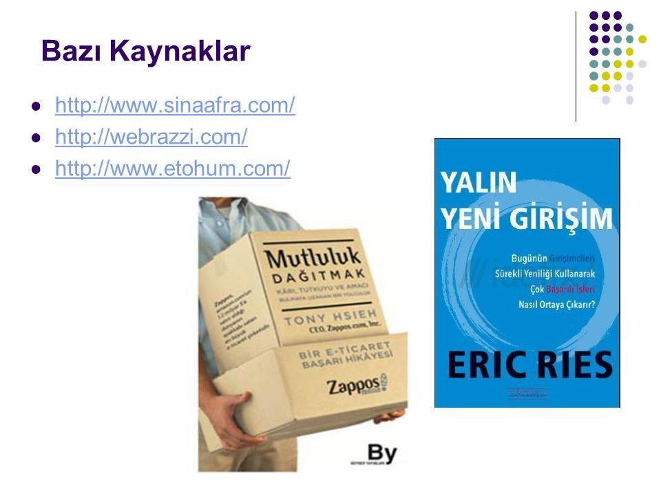 Bazı Kaynaklar http://www.sinaafra.com/ http://webrazzi.com/ http://www.etohum.com/