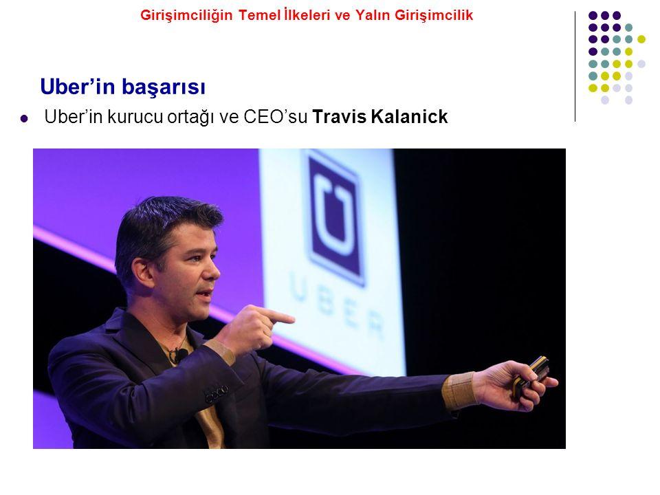 Uber'in kurucu ortağı ve CEO'su Travis Kalanick Uber'in başarısı Girişimciliğin Temel İlkeleri ve Yalın Girişimcilik