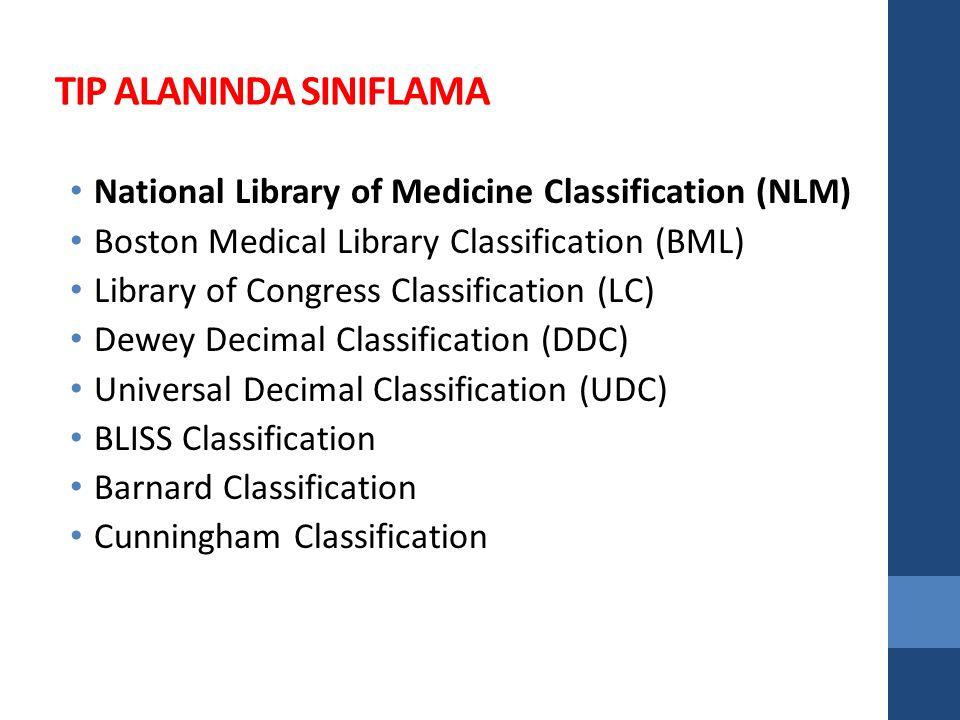 NLM Classification 1951 yılında NLM tarafından oluşturulmuştur.