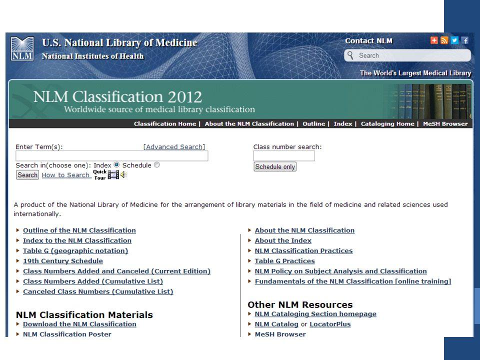 BLISS Classification BLISS ise çok detaylı genel bir sınıflama şemasıdır.