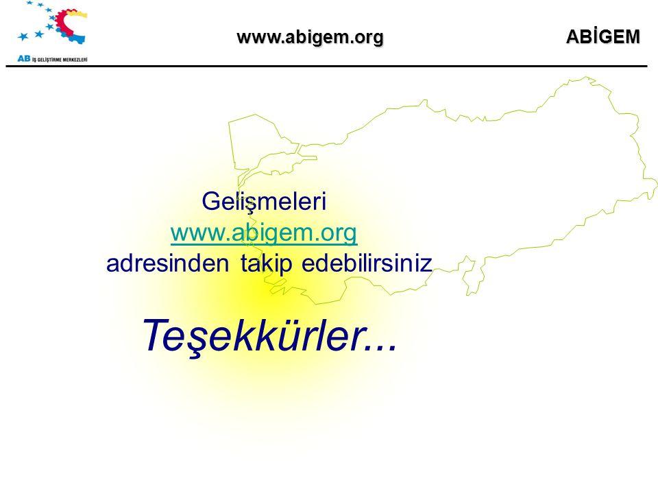 Gelişmeleri www.abigem.org adresinden takip edebilirsiniz Teşekkürler... ABİGEMwww.abigem.org