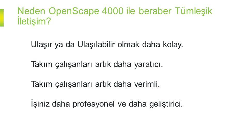 Neden OpenScape 4000 ile beraber Tümleşik İletişim.