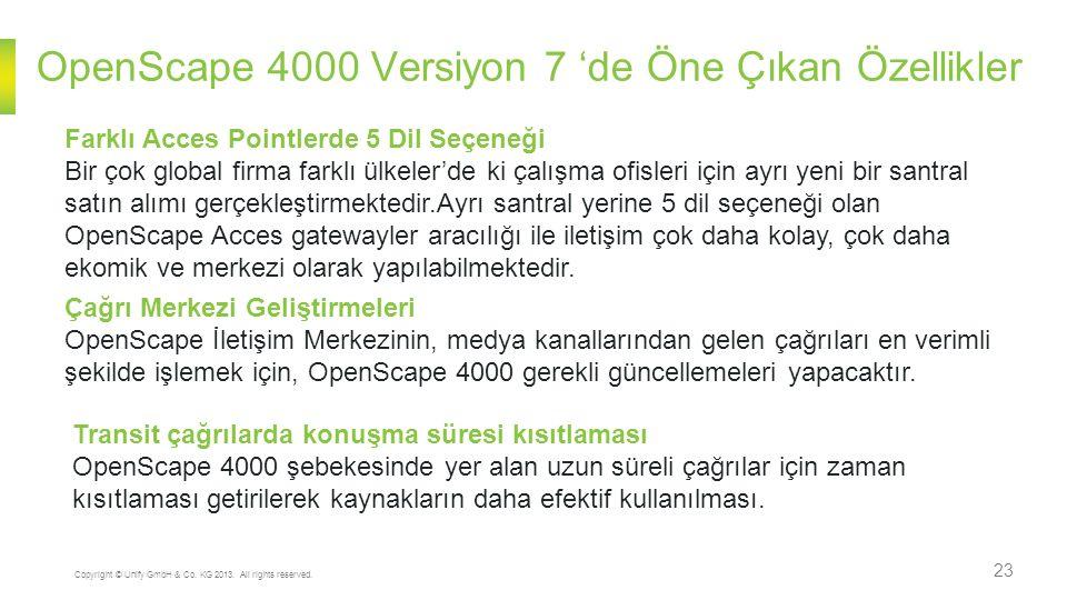 23 Copyright © Unify GmbH & Co. KG 2013. All rights reserved. Farklı Acces Pointlerde 5 Dil Seçeneği Bir çok global firma farklı ülkeler'de ki çalışma