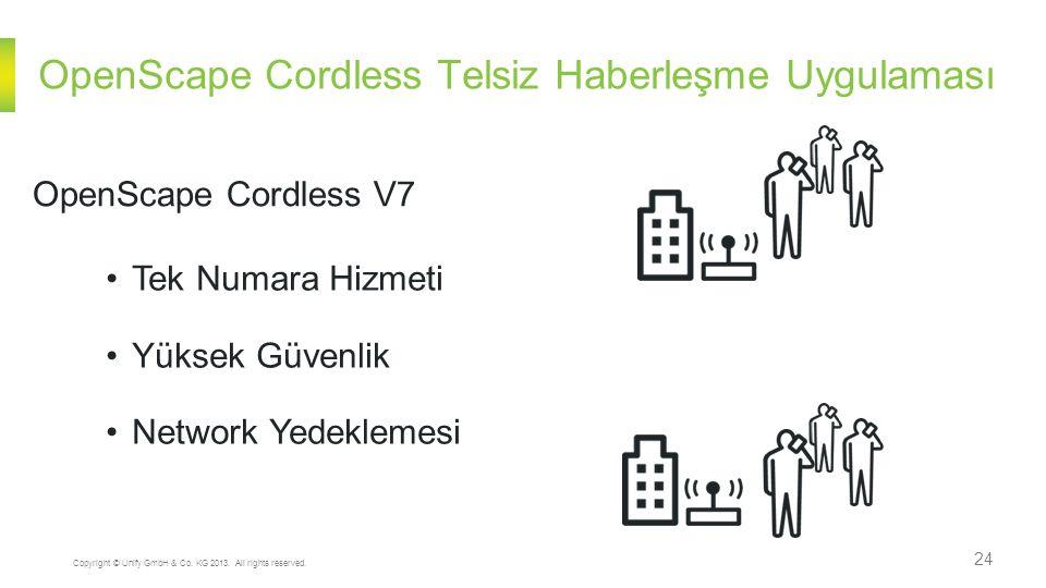 OpenScape Cordless Telsiz Haberleşme Uygulaması 24 Copyright © Unify GmbH & Co.