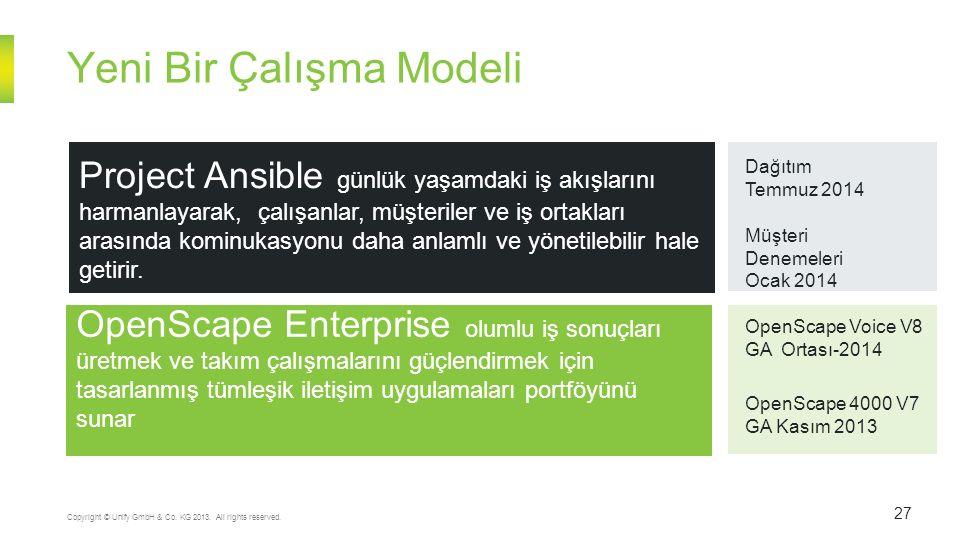 Yeni Bir Çalışma Modeli 27 Copyright © Unify GmbH & Co.