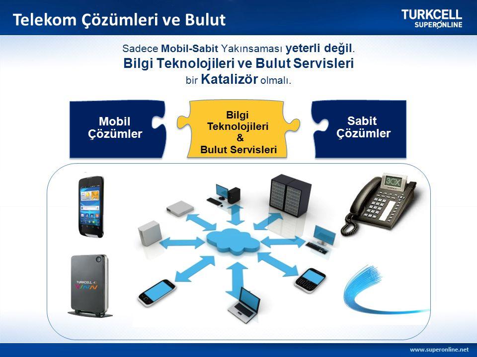 Telekom Çözümleri ve Bulut Sabit Çözümler Mobil Çözümler Bilgi Teknolojileri & Bulut Servisleri Sadece Mobil-Sabit Yakınsaması yeterli değil.