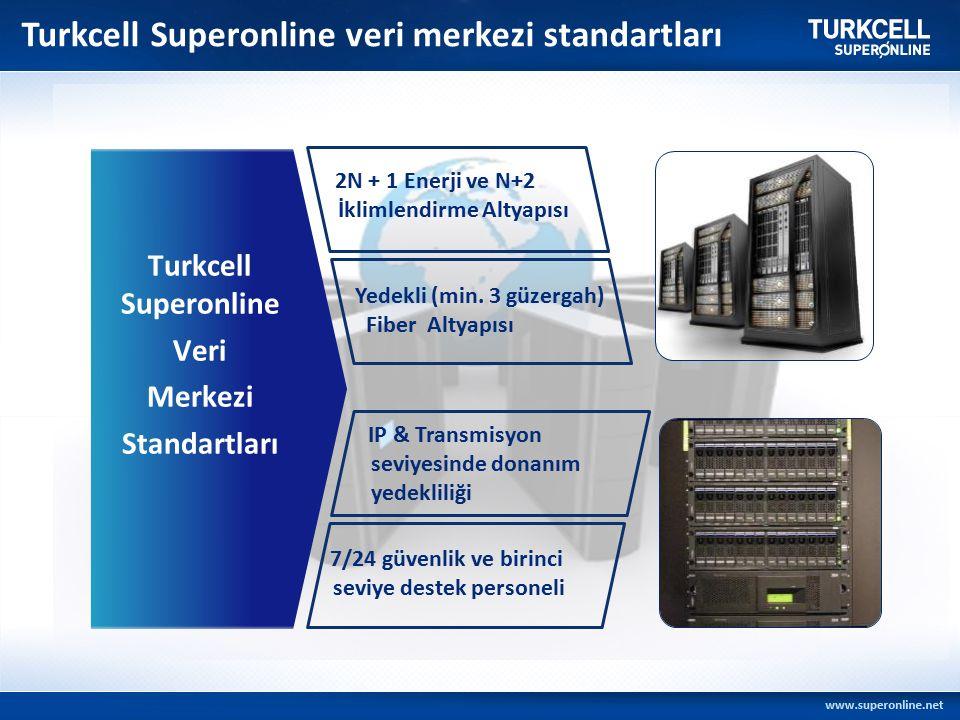 Turkcell Superonline Veri Merkezi Standartları 2N + 1 Enerji ve N+2 İklimlendirme Altyapısı Yedekli (min.