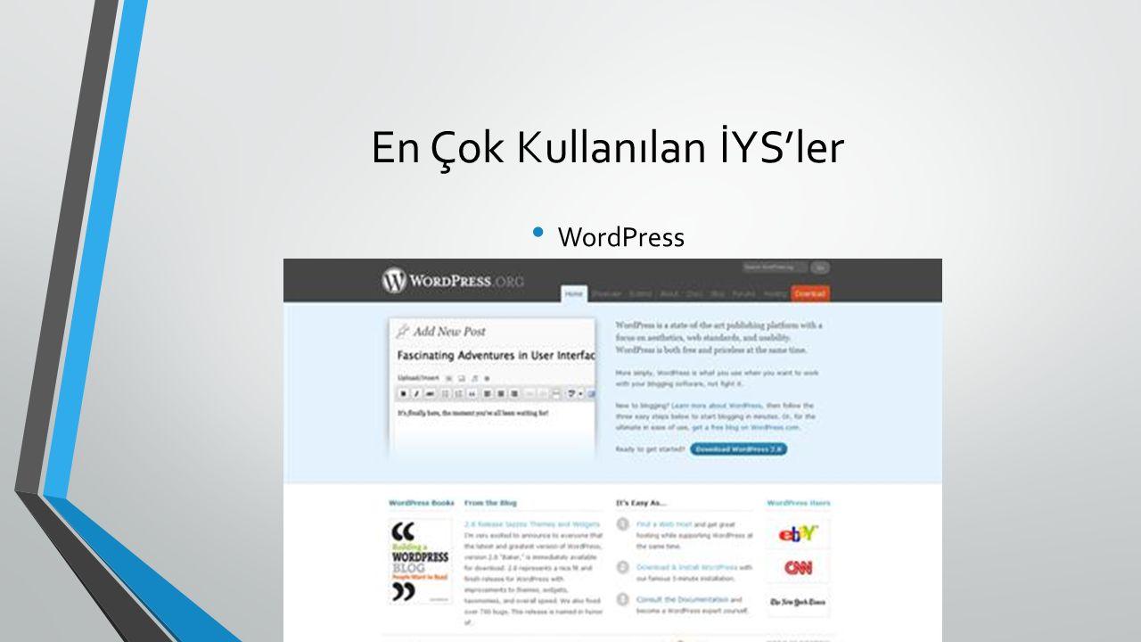 En Çok Kullanılan İYS'ler WordPress
