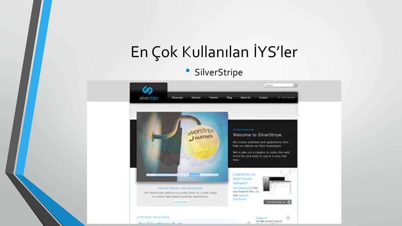 En Çok Kullanılan İYS'ler SilverStripe