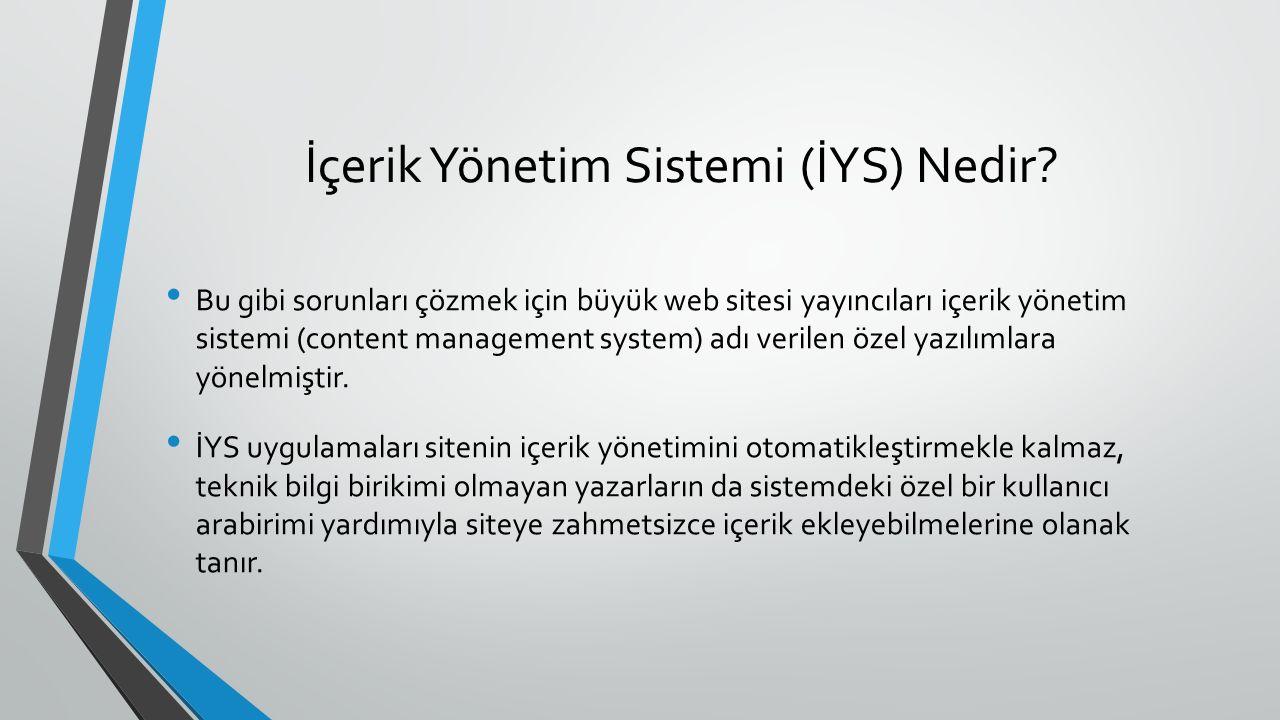 İçerik Yönetim Sistemi (İYS) Nedir.