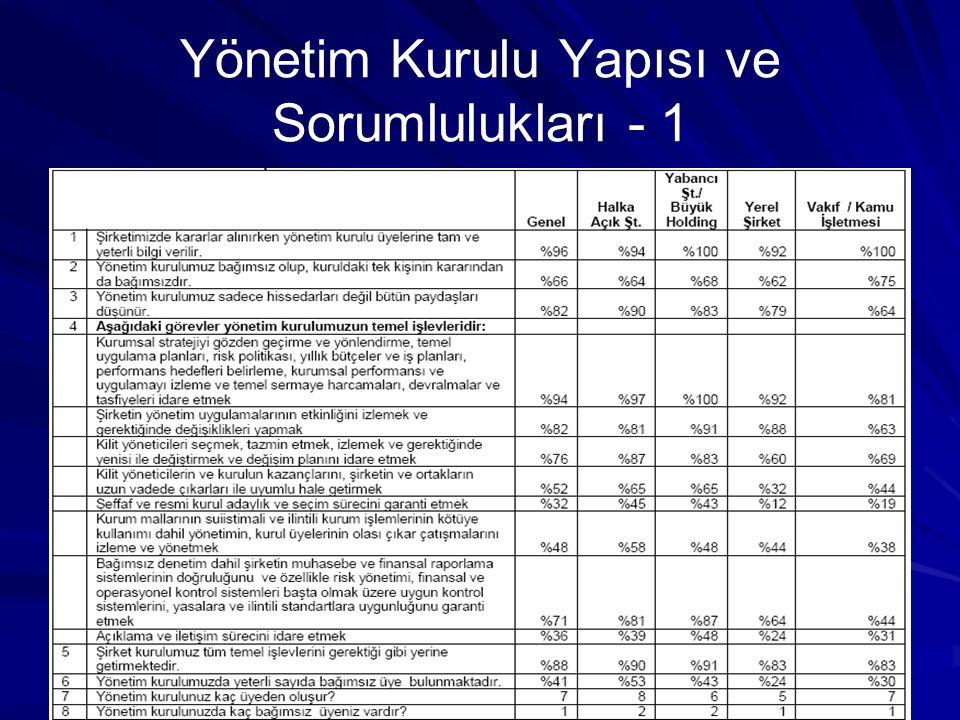 Yönetim Kurulu Yapısı ve Sorumlulukları - 1