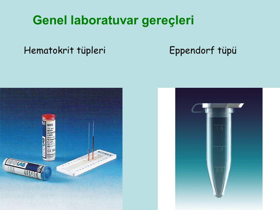 Hematokrit tüpleriEppendorf tüpü