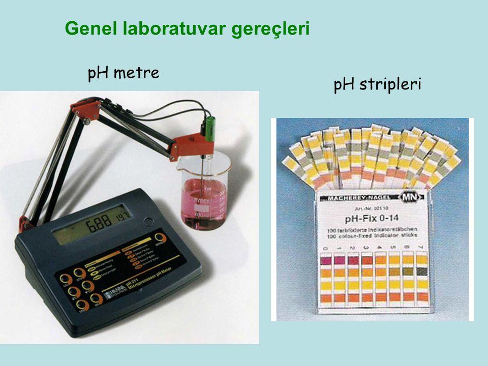 Genel laboratuvar gereçleri pH metre pH stripleri