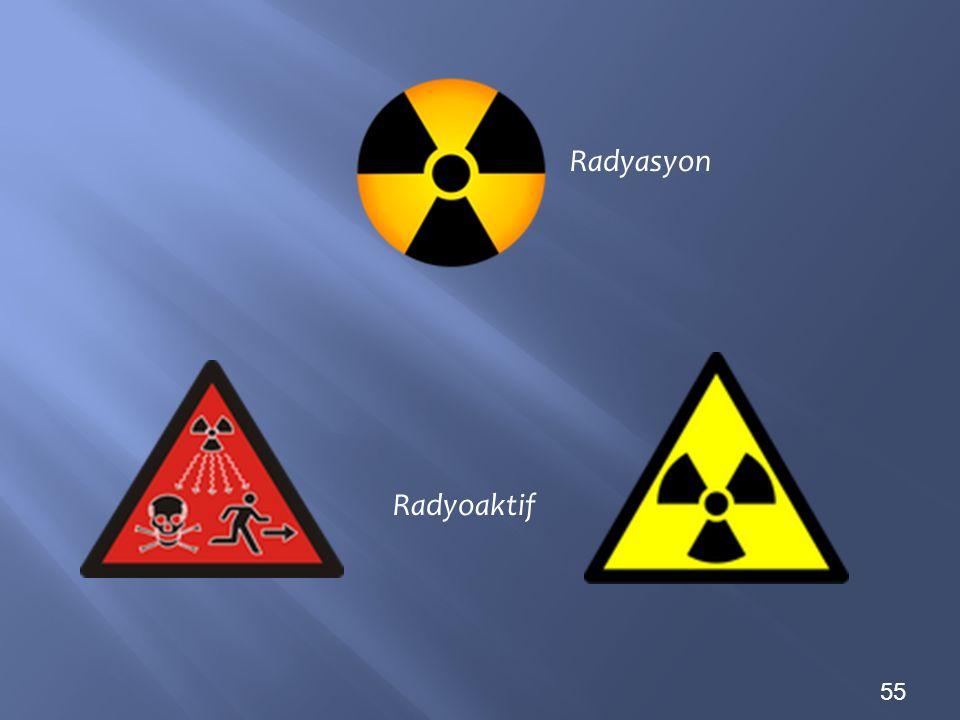 55 Radyasyon Radyoaktif