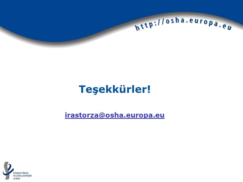 Teşekkürler! irastorza@osha.europa.eu