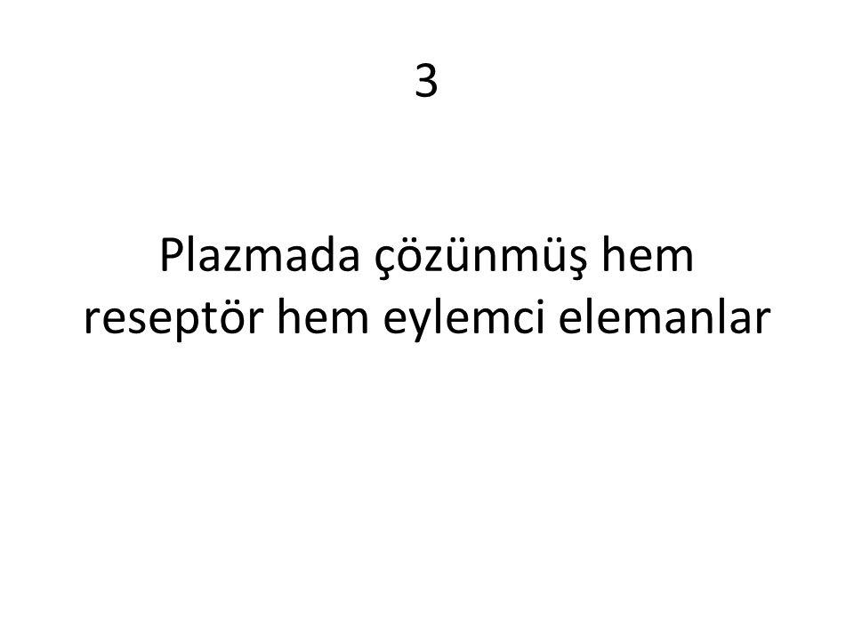 Plazmada çözünmüş hem reseptör hem eylemci elemanlar 3