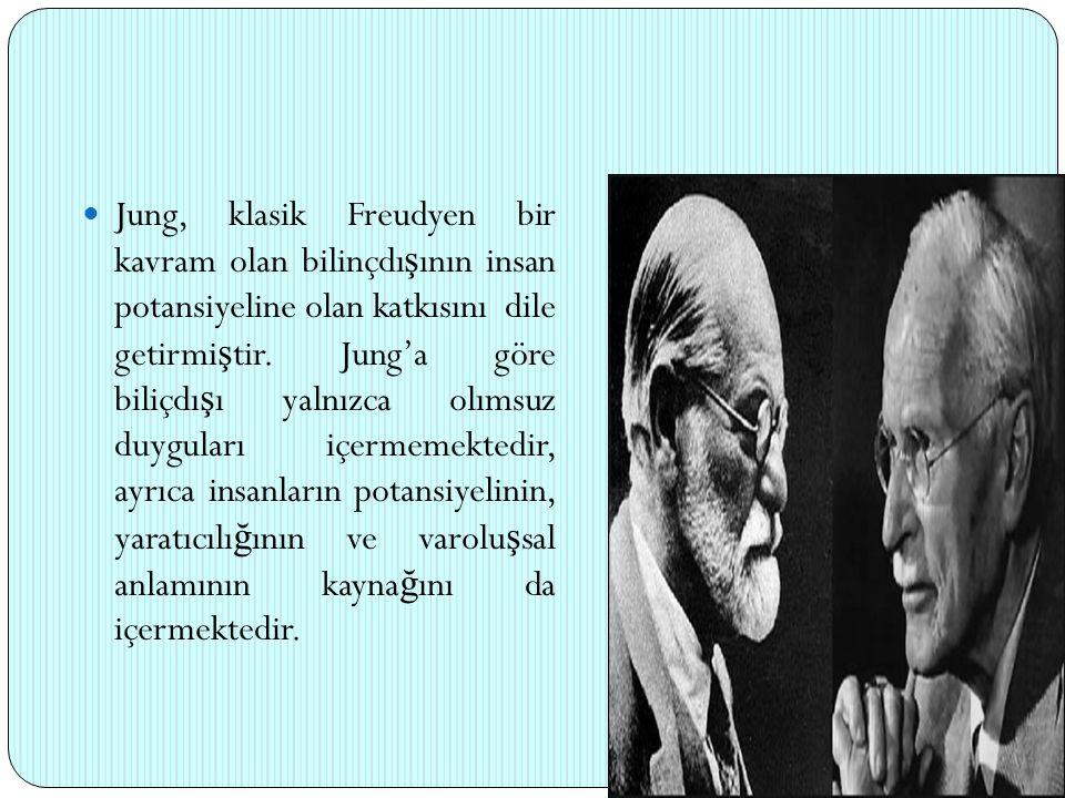 Jung, klasik Freudyen bir kavram olan bilinçdı ş ının insan potansiyeline olan katkısını dile getirmi ş tir. Jung'a göre biliçdı ş ı yalnızca olımsuz