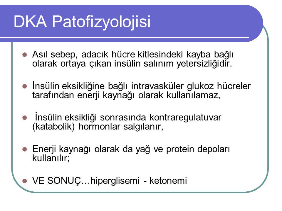 DKA KARŞIT-DÜZENLEYİCİ HORMONLAR. büyüme hormonu. kortizon. katekolaminler. glukagon***