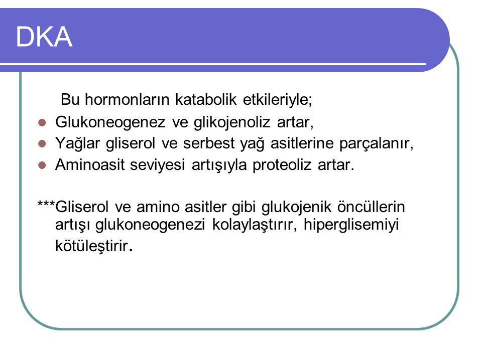 Hipoglisemide Tedavi ***Glukagon; – Damaryolu bulunamayanlarda 10 yaş üstü 1 mg 5-10 yaş arası 0.5–1mg 5 yaş altı 0.25-0.65mg – Etkisi daha yavaş başlar.