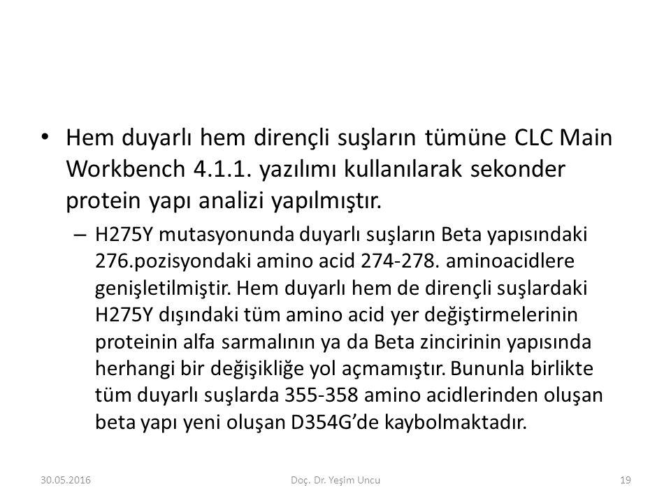 30.05.201619 Hem duyarlı hem dirençli suşların tümüne CLC Main Workbench 4.1.1.