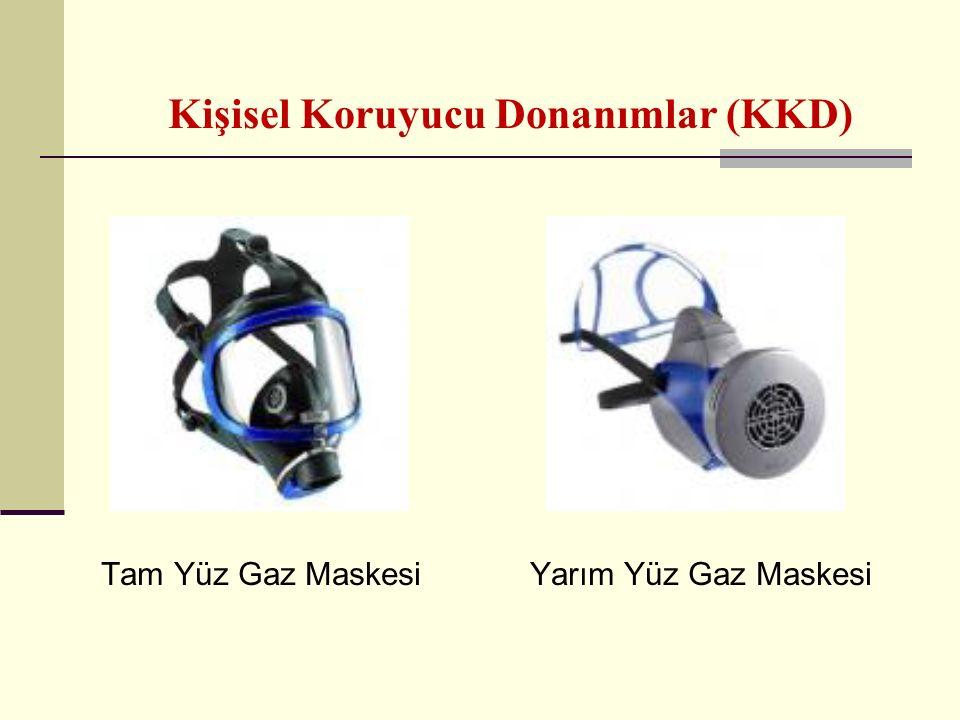 Kişisel Koruyucu Donanımlar (KKD) Tam Yüz Gaz MaskesiYarım Yüz Gaz Maskesi