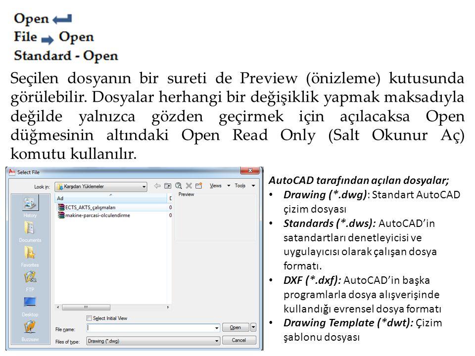 Seçilen dosyanın bir sureti de Preview (önizleme) kutusunda görülebilir. Dosyalar herhangi bir değişiklik yapmak maksadıyla değilde yalnızca gözden ge