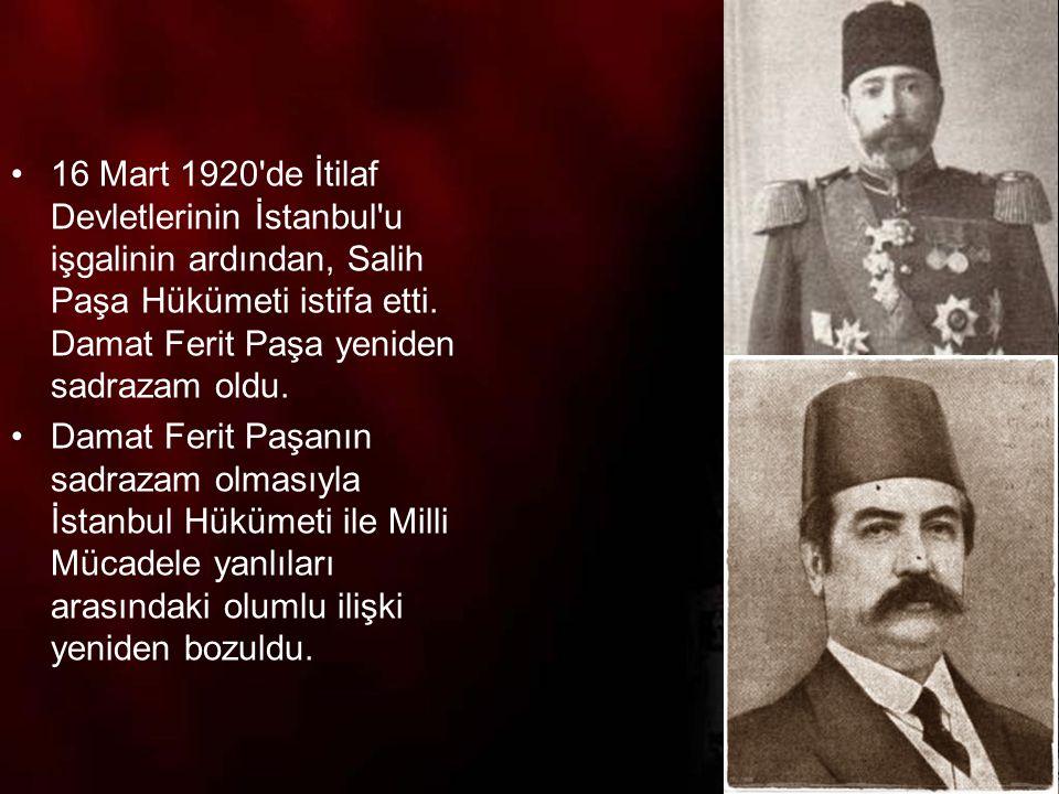 11 TBMM ye karşı çıkan ayaklanmalar dört gruba ayrılır: 1.Doğrudan İstanbul Hükümeti tarafından çıkarılan ayaklanmalar 2.İtilaf Devletleri ve İstanbul Hükümeti tarafından desteklenen ayaklanmalar.