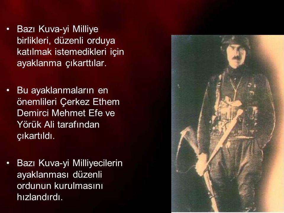 TBMM ayaklanmalara karşı şu önlemleri aldı: 1.İstanbul Hükümetinin yıkıcı propagandalarına karşı Ankara Müftüsü, çevre illerin müftüleri İslam alimleri de karşı fetvalar yayınladılar.