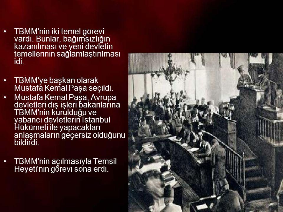 16 Mart 1920 de İtilaf Devletlerinin İstanbul u işgalinin ardından, Salih Paşa Hükümeti istifa etti.