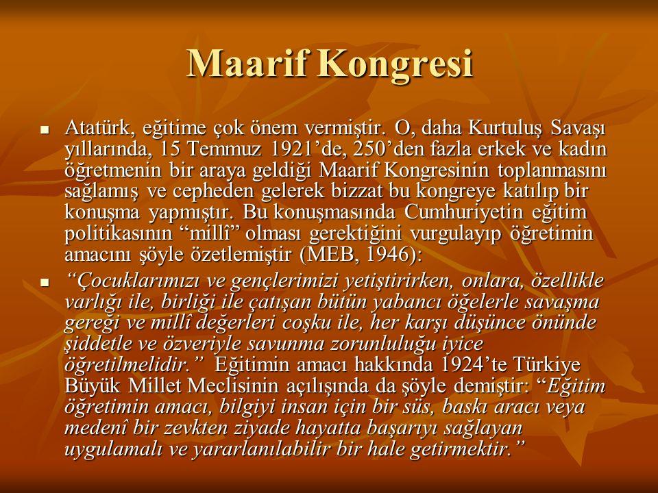 Tevhid-i Tedrisat 1 (3 Mart 1924, sayı 430) Yasanın Gerekçesi 1.