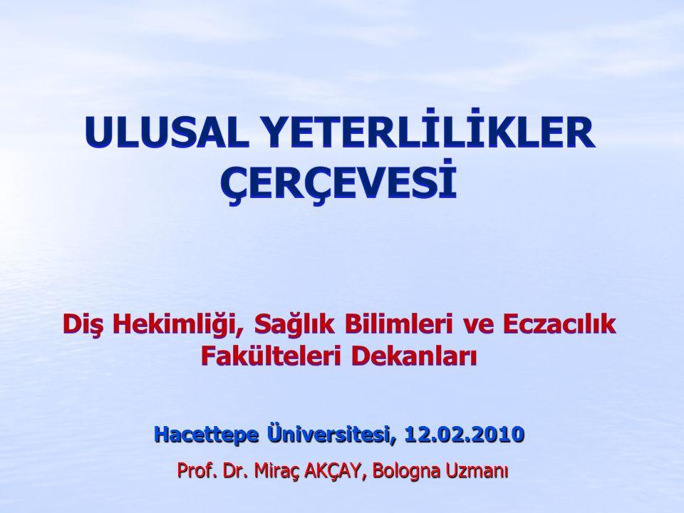 Prof. Dr. Miraç AKÇAY, Bologna Uzmanı