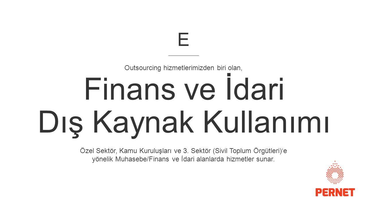 Finans ve İdari Dış Kaynak Kullanımı Özel Sektör, Kamu Kuruluşları ve 3.