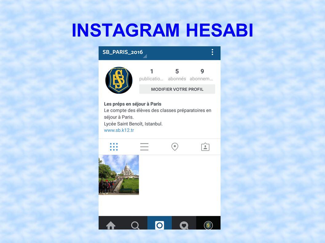 INSTAGRAM HESABI