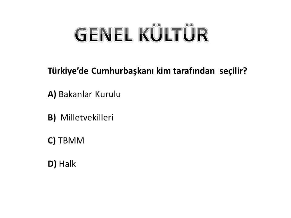Türkiye'de Cumhurbaşkanı kim tarafından seçilir.