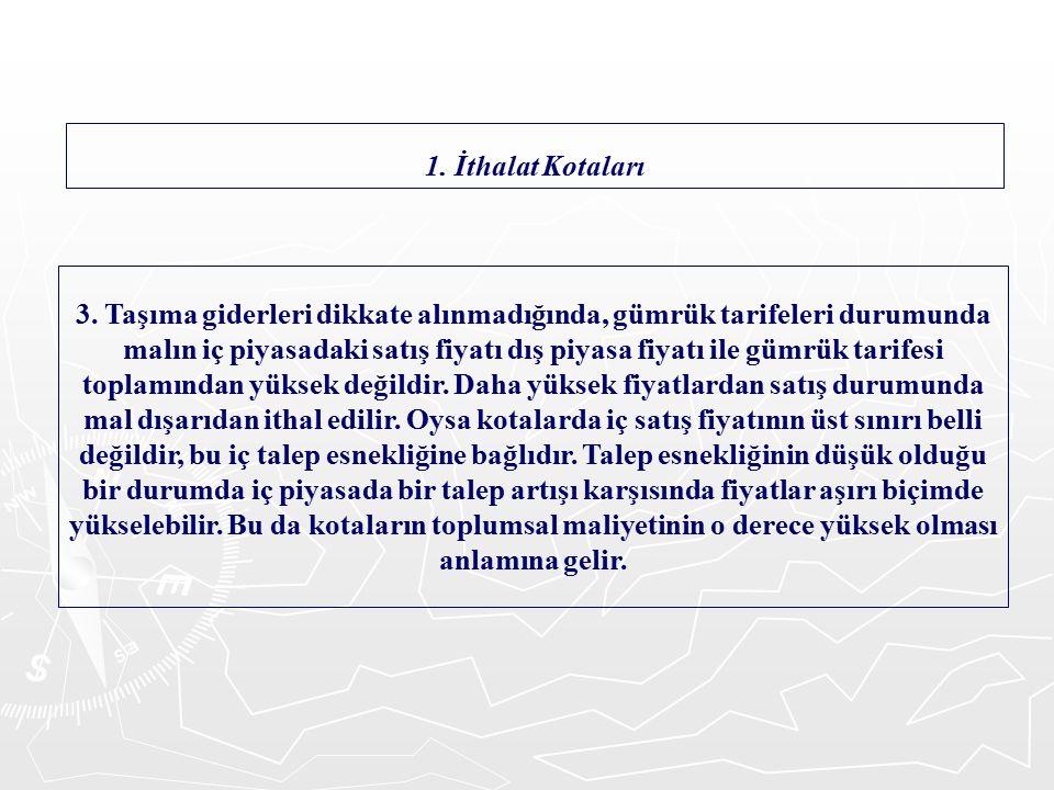 IV.İTHALAT VE İHRACAT VERGİLERİ 1.
