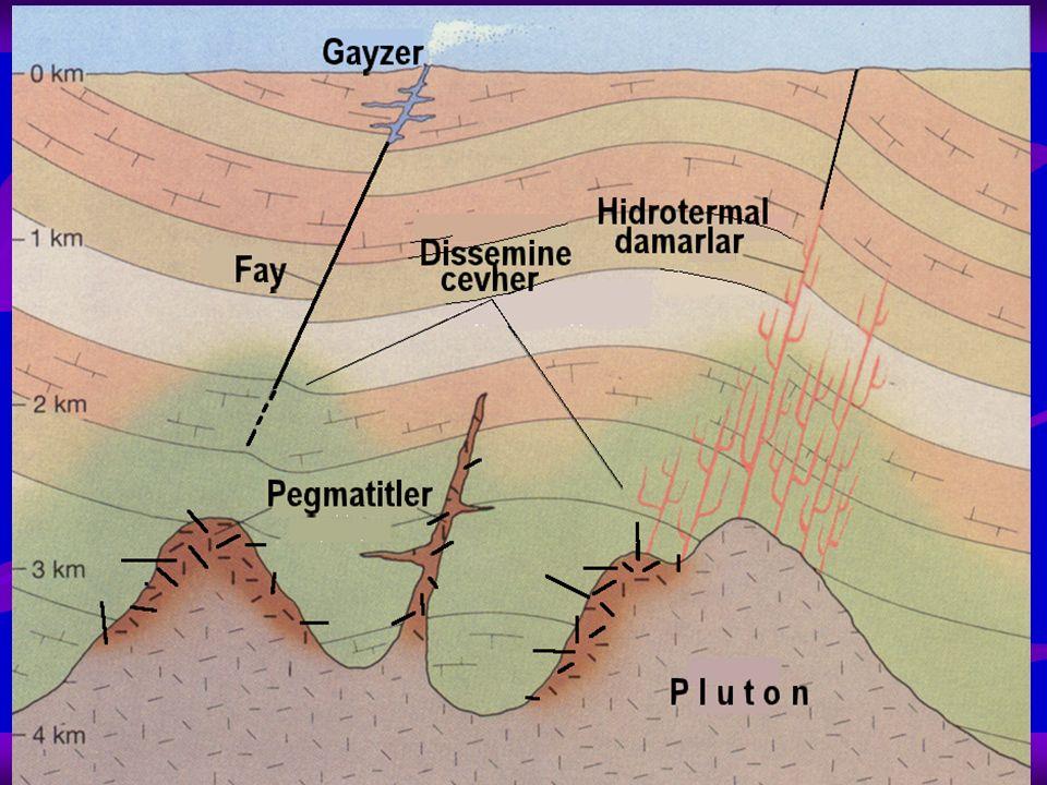 Granit pegmatitleri diğer türlere göre daha sık bulunur Pegmatitlerin çoğunda; granitlerin bileşiminde yer alan aşırı iri kuars, feldspat, mika gibi mineraller Bu mineraller bir kaç 10 cm.