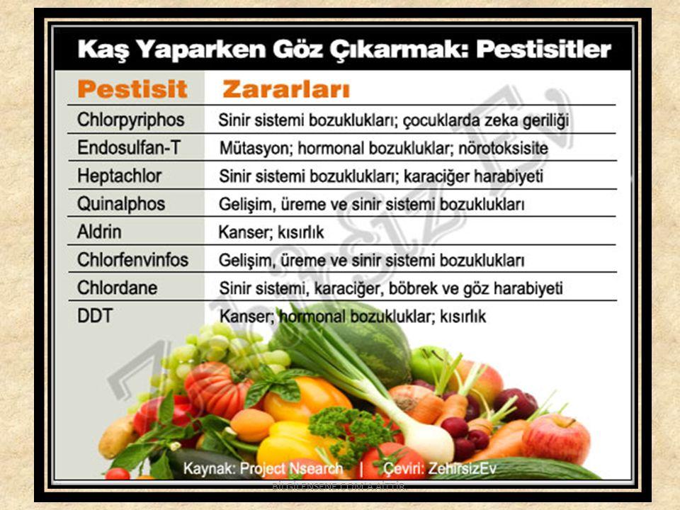 Bazı Yasaklı Pestisitler BİLGİLENSENE.COM A AİTTİR.