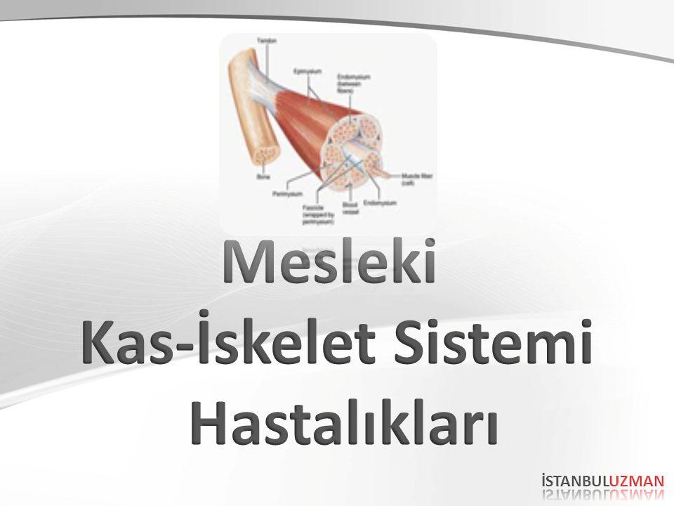 ETYOLOJİ Kas-iskelet sistemi problemleri oldukça geniş bir spektrumdur.