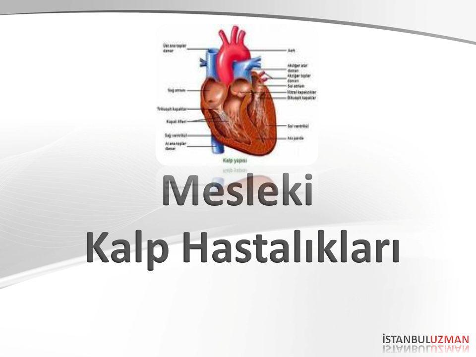 Kimyasal Maddeler (Chemicals) Bazı kimyasal maddeler kalp kaslarını ve kan damarlarının düz kaslarını etkileyerek duyarlılaştırmakta, bazıları da kanın oksijen taşıma kapasitesini azaltmaktadır.