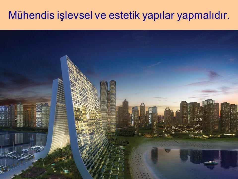 Mühendis işlevsel ve estetik yapılar yapmalıdır.