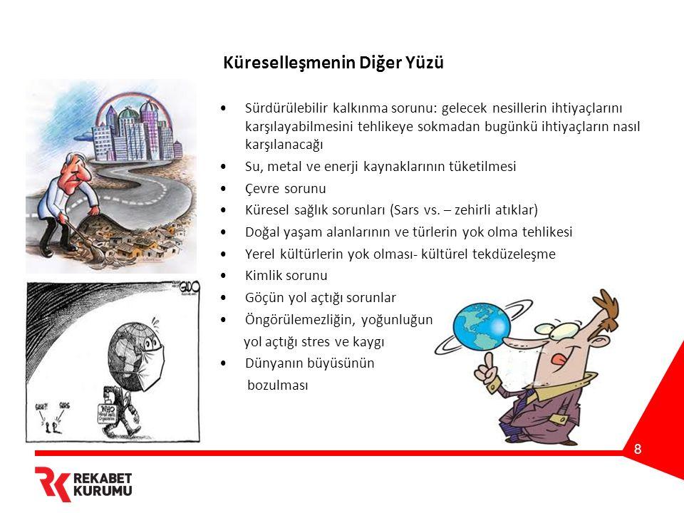 9 Türkiye Ülkemizin dışa açılma/dünya ile bütünleşme süreci, modernleşme çabası 200 yıldır devam ediyor.