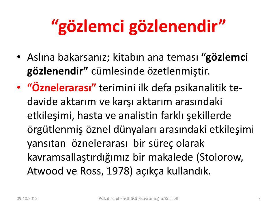 2 ÜÇ FARKLI BİLİNÇDIŞI 09.10.2013Psikoterapi Enstitüsü /Bayramoğlu/Kocaeli58
