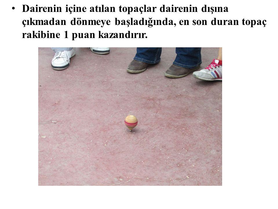 Oyuncu atışını yaparken topaça sardığı ip koparsa ve ya topaç atış yapıldığında kırılırsa ne olur.