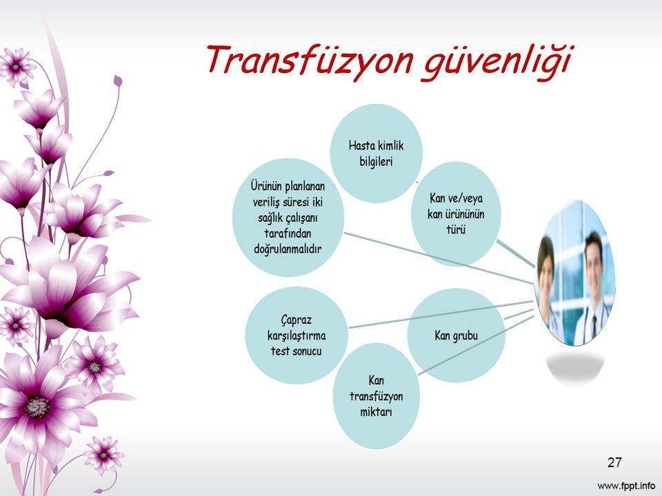 Transfüzyon güvenliği 27