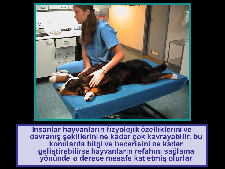İnsanlar hayvanların fizyolojik özelliklerini ve davranış şekillerini ne kadar çok kavrayabilir, bu konularda bilgi ve becerisini ne kadar geliştirebilirse hayvanların refahını sağlama yönünde o derece mesafe kat etmiş olurlar