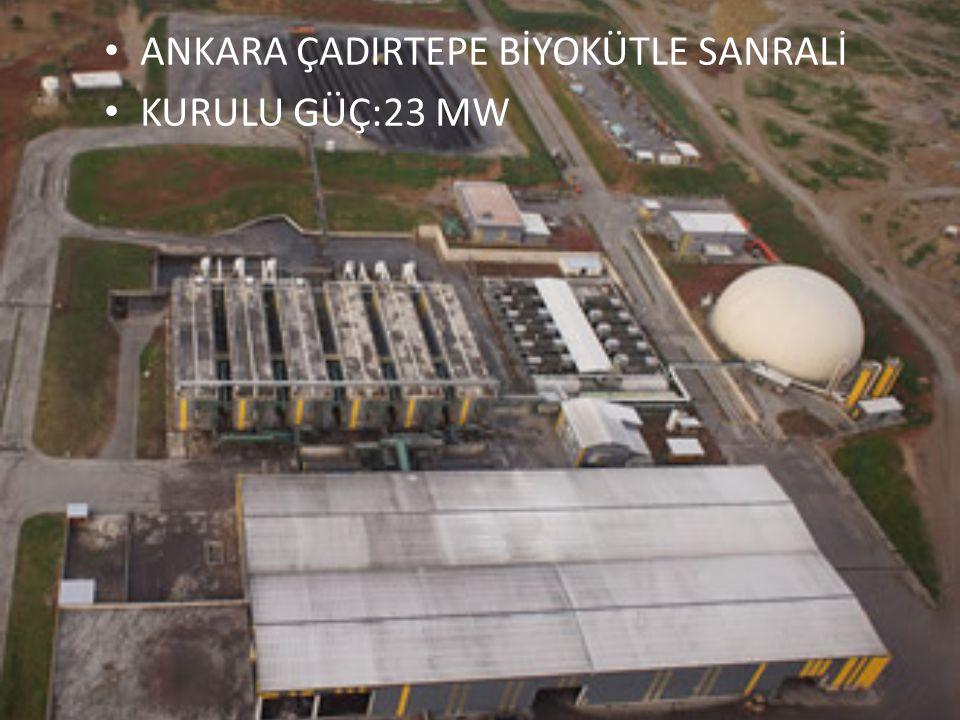 ANKARA ÇADIRTEPE BİYOKÜTLE SANRALİ KURULU GÜÇ:23 MW
