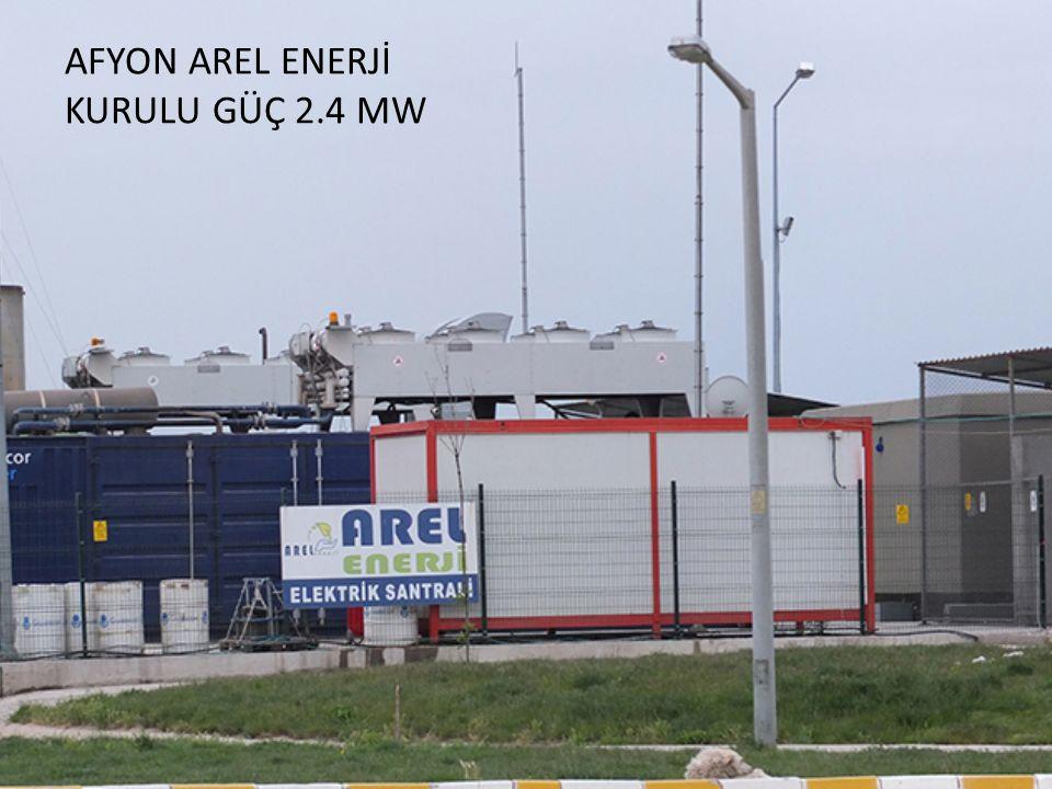 AFYON AREL ENERJİ KURULU GÜÇ 2.4 MW
