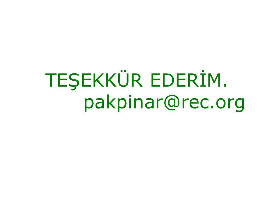 TEŞEKKÜR EDERİM. pakpinar@rec.org