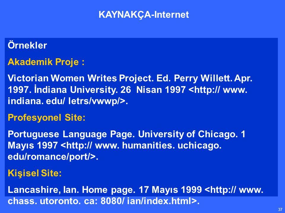 37 Örnekler Akademik Proje : Victorian Women Writes Project.