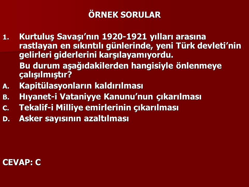 ÖRNEK SORULAR 1.